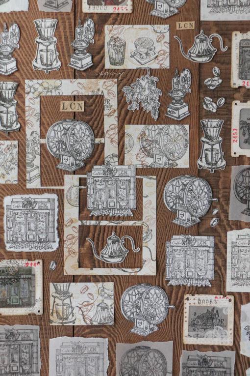 LCN Design Rubber Stamp Set .Coffee Vol. 2