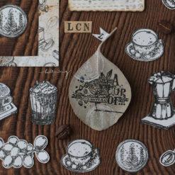 LCN Design Rubber Stamp Set Coffee Vol. 1
