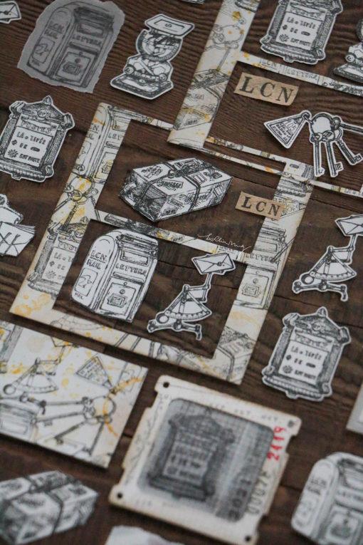 LCN Design Rubber Stamp Set Postage Vol.2