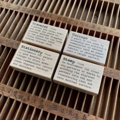 Liberty HK Rubber Stamps, Dictionary Series - Stamp, Traveler, Collage, Stationery