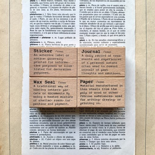 Liberty.hk Rubber Stamps, Dictionary Series - Paper, sticker, Wax seal, Journal