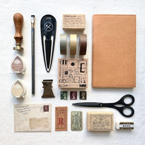 Liberty.hk Rubber Stamps - Stationery flatlay