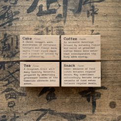 Liberty.hk Rubber Stamps, Dictionary Series - Tea, Coffee, Snack, Cake