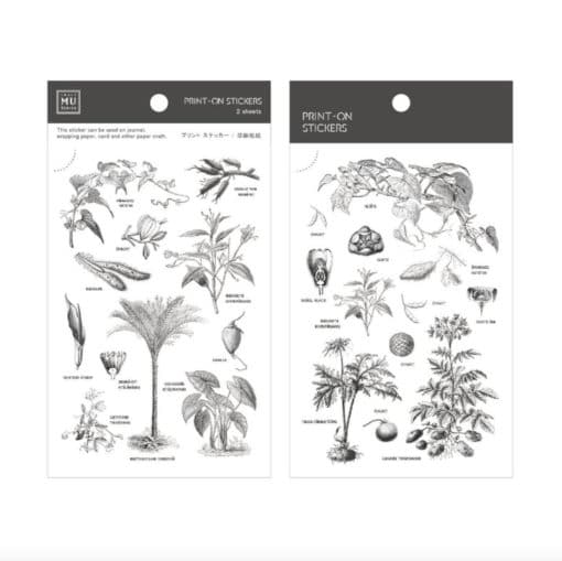 MU Print-On Stickers – Botanical Encyclopedia