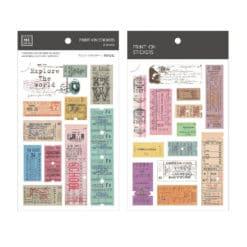 MU Print-On Stickers – Vintage Tickets