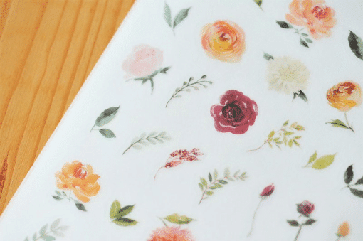 MU Print-On Stickers – Dhalias and Roses