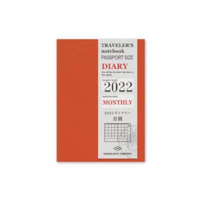 TRAVELER'S Notebook Passport Size Refill 2022 Monthly