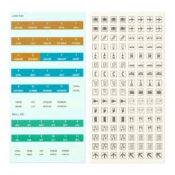 TRAVELER'S Notebook Customized Sticker Set for Diary 2022