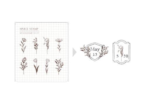 MU My Icon Clear Stamp Set No. 15