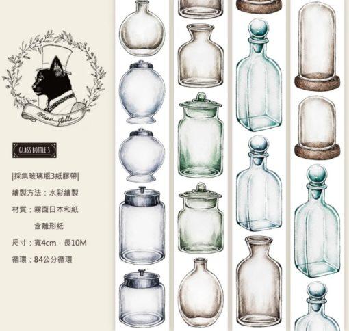 Miao Stelle Glass Bottle 3 Washi Tape