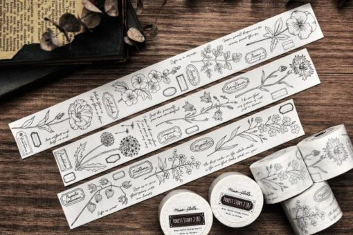 Miao Stelle Forest Story 2 Washi Tape - Black