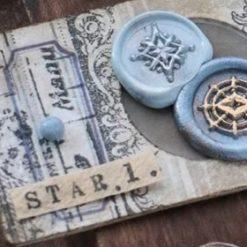 Mini wax seal: star 1