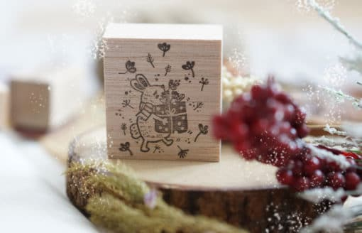 Black Milk Project Rubber Stamp - Bunny with Gift