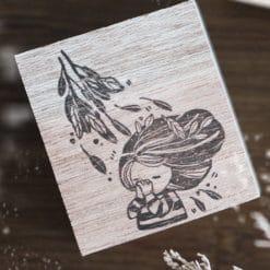 Black Milk Project Rubber Stamp - Dear God Girl Praying